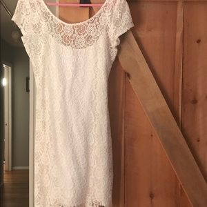 Abercrombie and Fitch white lace bodycon dress